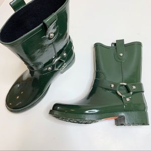 Michael Kors Army Green Rainboots Ankle Size 7